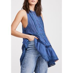 Free People Adelaide Tunic Denim & Lace FINAL 💲